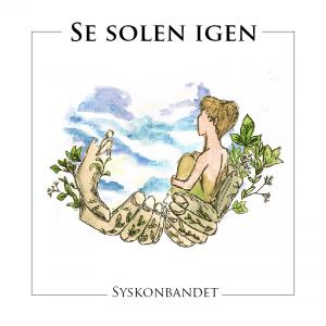 """Bilden visar omslaget på Syskonbandets CD """"Se solen igen"""". Den föreställer en ung person som slyfts upp av två händer. I bakgrunden anas en himmel."""